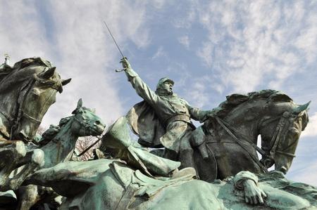 Občanská válka voják Socha ve Washingtonu DC