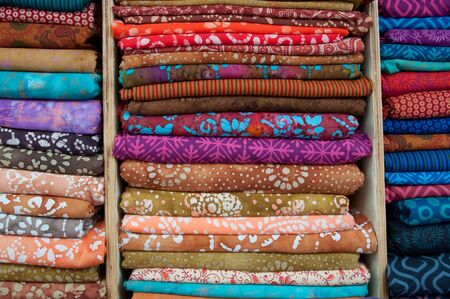 exporter: Indian Fabrics for Sale Stock Photo