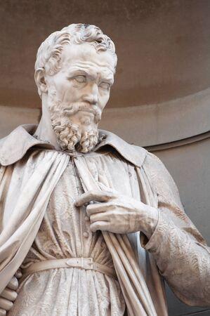 old man beard: Statue of Michelangelo Buonaroti