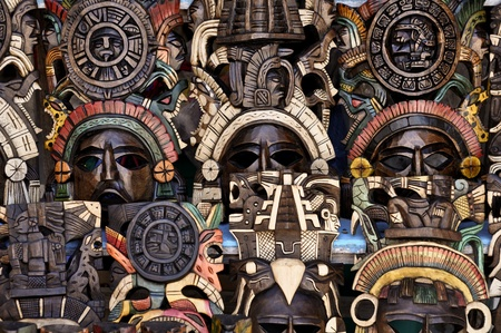 Mayan Wooden Masks for Sale photo