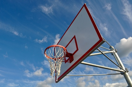 Outdoor Basketball Hoop Close Up photo