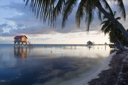 belize: House on the Ocean Stock Photo