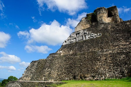 Xunantunich Belize Mayan Temple Stock Photo - 12076017