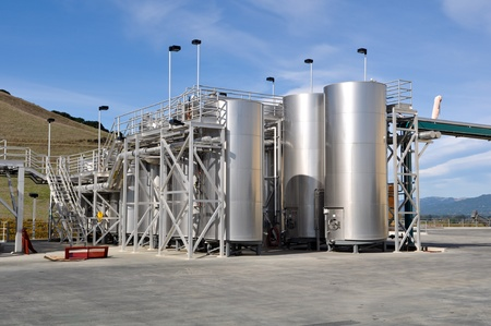 vats: Wine Vats Outdoors Stock Photo