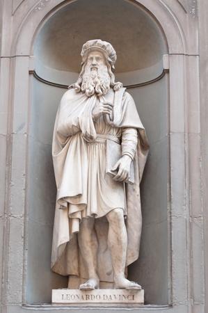 sculptor: Leonardo da Vinci in Florence Italy