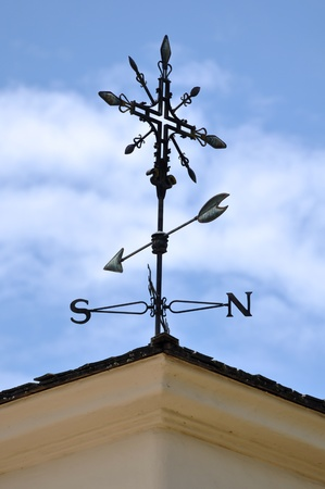 Weather Vane with Blue Sky Background