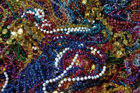 Mardi Gras Beads Background photo