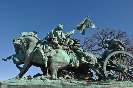 Civil War Statue in Washington DC Stock Photo