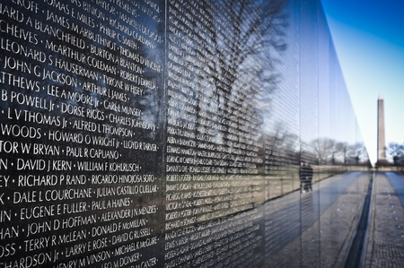 america soldiers: Vietnam War Memorial in Washington DC
