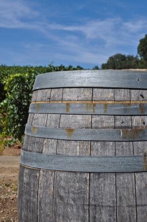 napa: Wine Barrel in Vineyard