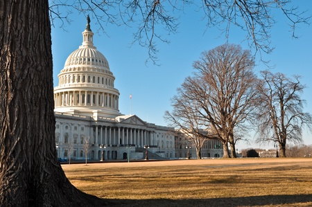 congressional: Capital Hill in Winter Stock Photo