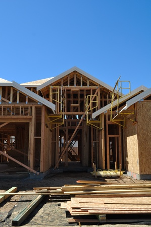 wooden beams: New Home Under Construction
