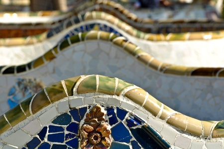 BARCELONA - July 24: Park Guell, a municipal garden designed by Antoni Gaudi. Built in 1900 - 1914. part of the UNESCO World Heritage Site