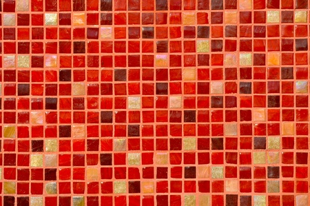 mosaic: Red Mosaic Tile Background