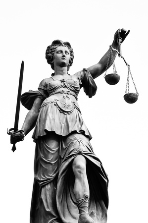 justicia: Señora de la justicia Foto de archivo