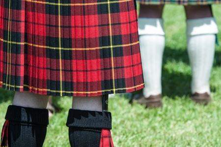 scot: Red and Black Scottish Kilt