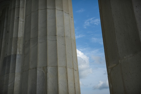 Pillars with Blue Sky and Clouds photo