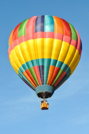 air: Colorful Hot Air Balloon Stock Photo