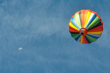 Hot Air Balloon with the Moon photo