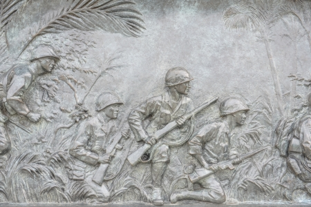 US Infantry War Plaque in Washington DC World War 2 Public Memorial Editorial