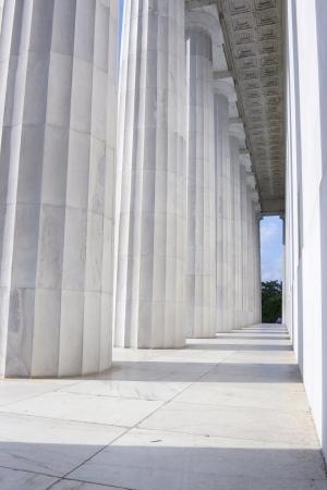 링컨 기념관의 기둥 스톡 콘텐츠