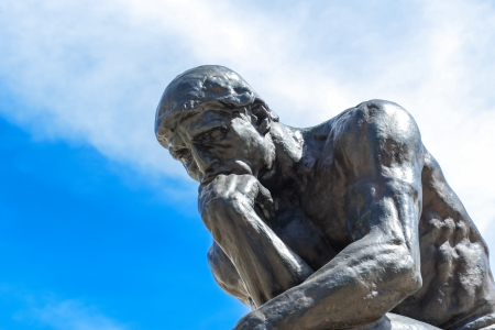 Rodin Thinker Statue Stock Photo - 15833846