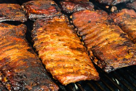bbq ribs: Barbecue Ribs on the Grill