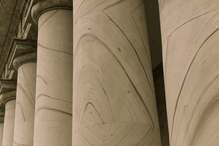 neo classical: Pillars Symbolizing Law, Education and Government