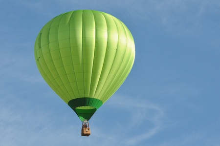 hot air: Green Hot Air Balloon Stock Photo
