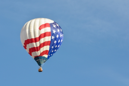 Red White and Blue Hot Air Balloon photo