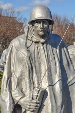 WASHINGTON DC - JANUARY 18: Korean War Memorial in the National Mall in Washington DC on January 18, 2012. The memorial was dedicated on July 27, 1995. Stock Photo - 16769190