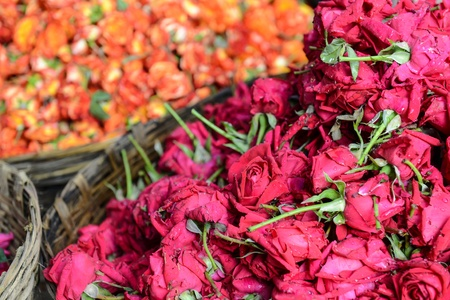 Roses in a Basket for Sale in India photo