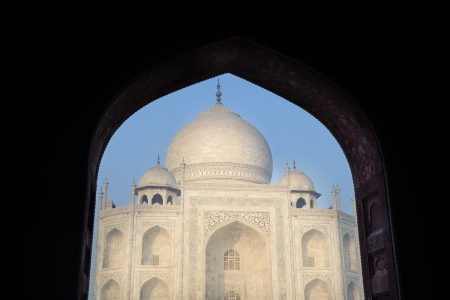 Taj Mahal framed by an Arch photo