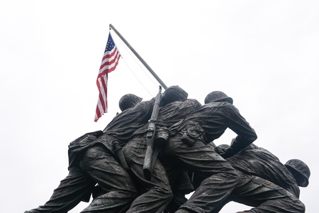 WASHINGTON DC - AUGUST 19: Iwo Jima statue in Washington DC on August 19, 2012. The statue honors the Marines who have died defending the US since 1775. Editorial