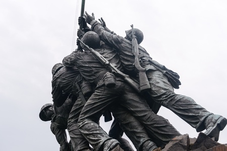 WASHINGTON DC - AUGUST 19: Iwo Jima statue in Washington DC on August 19, 2012. The statue honors the Marines who have died defending the US since 1775.