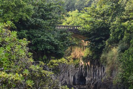 Bridge in Maui Hawaii on the Road to Hana photo