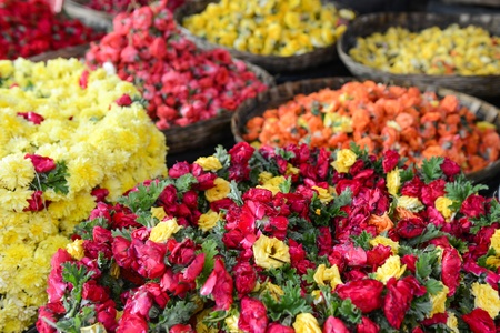 Roses for Sale at Indian Flower Market photo