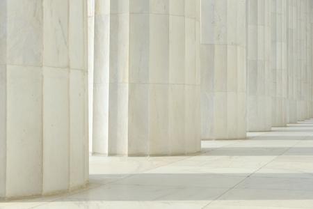 Pillars made of White Marble photo