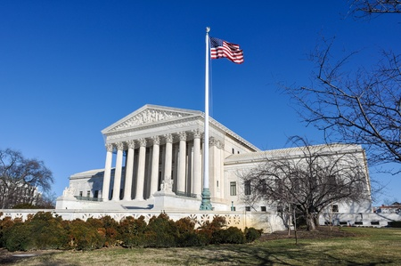 Supreme Court of the United States in the Winter Stock Photo - 17545341