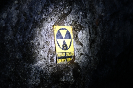 under fire: Fallout Shelter Underground Foto de archivo