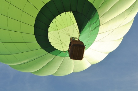Green Hot Air Balloon Close Up Stock Photo - 17574408