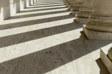 Stone Pillars in a Row Stock Photo - 17574433