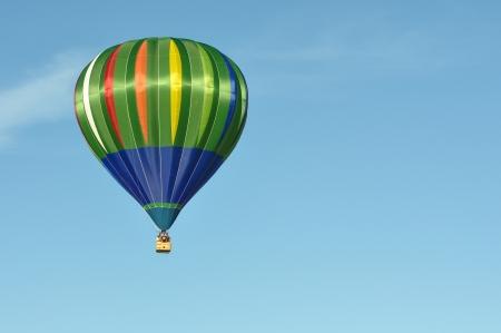 Green and Blue Hot Air Balloon Stock Photo - 17678786