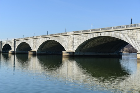 Key Bridge in Washington DC photo