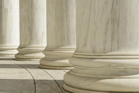 law library: Pillars at the Jefferson Memorial