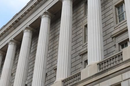 Pillars and Brick Wall