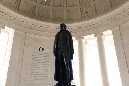Jefferson Memorial Statue in Washington DC