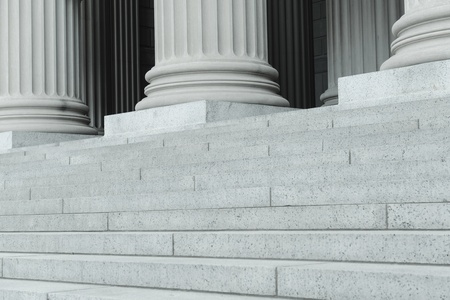 Pillars and Steps in Black and White photo