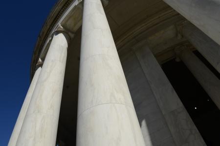 Pillars at the Jefferson Memorial in washington DC photo