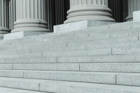 stone steps: Pillars and Steps Stock Photo